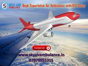 Get Sky Air Ambulance Service in Bokaro with First Class ICU Facility